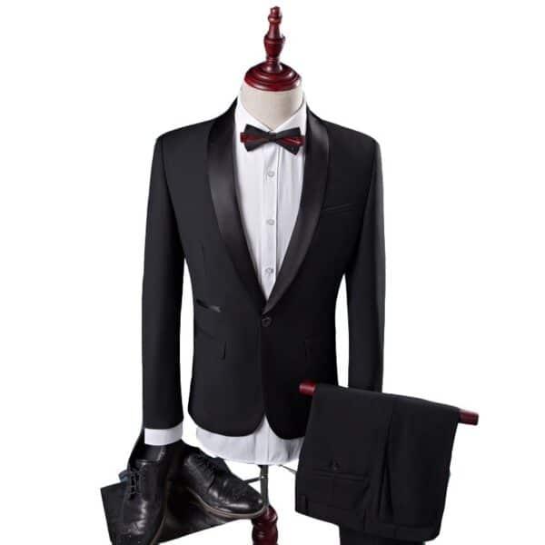 Costume noir deux pièces homme