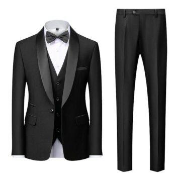 Costume noir mariage mode 2021
