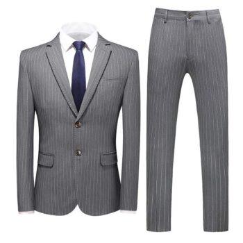 Costume 3 pièces gris homme
